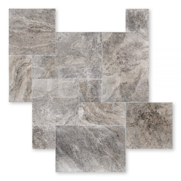 Silver Travertine Tile Tumbled Photo 2