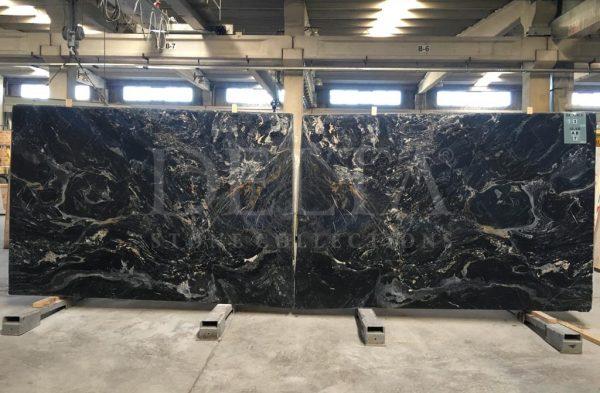 Nero Picasso Black Marble Slab