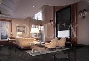 Dark Marble Floor Tile Photo 1